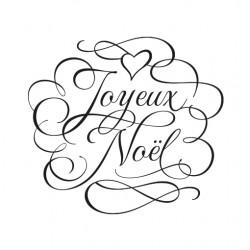Tampon joyeux no l arabesques d corez vos tiquettes cadeaux - Joyeux noel noir et blanc ...