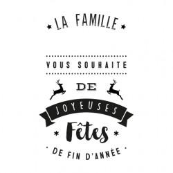 Tampon joyeuses fêtes famille