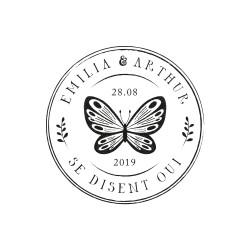 Tampon papillon vintage