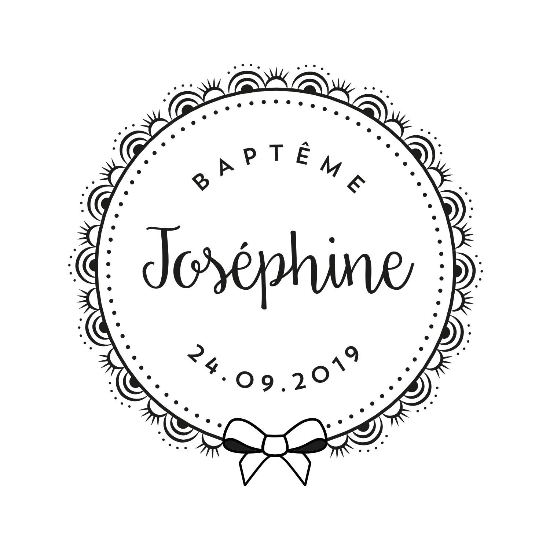Exceptionnel Tampon baptême personnalisé avec prénom : achat en ligne - Love Stamps SH87