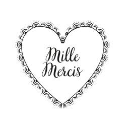 Tampon Mille mercis coeur en dentelle