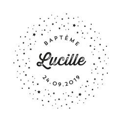Tampon baptême personnalisé voie lactée