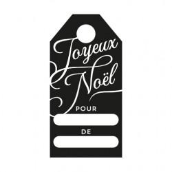 Tampon encreur motif étiquette joyeux noël calligraphie