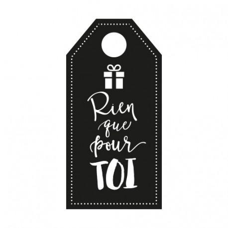 Tampon scrapbooking Noël cadeau rien que pour toi
