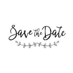 Tampon save the date branches champêtres