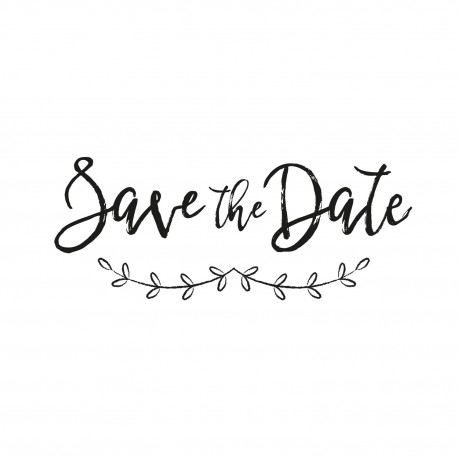 Tampon mariage save the date branches champêtres