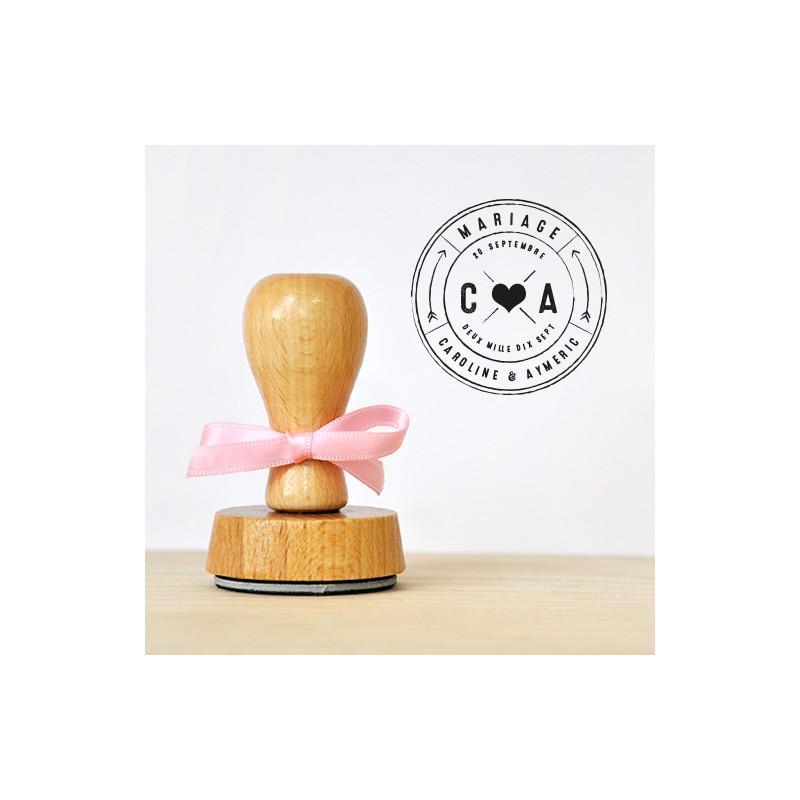 Tampon de mariage vintage style industriel tampon personnalis - Tampon cuisine personnalise ...